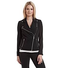 Calvin Klein Knit Moto Jacket
