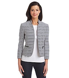 Nine West® Stripe Printed Kiss Front Jacket