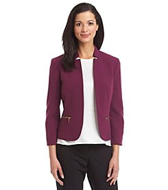 Nine West® Stretch Inverted Blazer Jacket