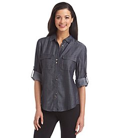 Ivanka Trump® Denim Blouse
