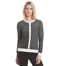 Calvin Klein Button Front Stripe Cardigan