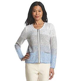 Laura Ashley® Petites' Tri Color Sequin Jacket