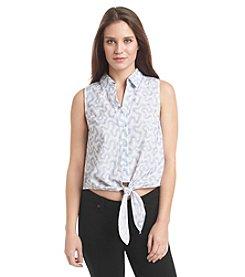 MICHAEL Michael Kors® Embroidery Tie Waist Top