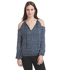 MICHAEL Michael Kors® Kumo Cold Shoulder Peasant Top