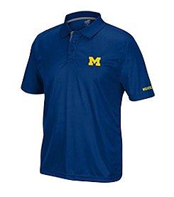 J. America® NCAA® Michigan Wolverines Men's Pregame Short Sleeve Polo
