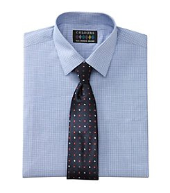 Alexander Julian® Men's Mini-Check Patterned Shirt & Tie Set