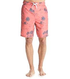 Le Tigre Men's Tropical Print Swim Trunks