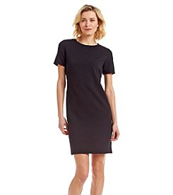 MICHAEL Michael Kors® Short Sleeve Grid Textured Knit Dress