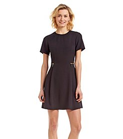 MICHAEL Michael Kors® Short Sleeve Zipper Waist Dress