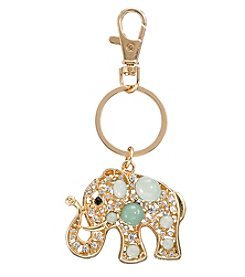 Relativity® Goldtone Elephant Key Ring