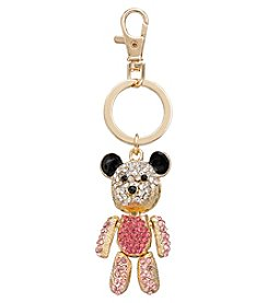 Relativity® Goldtone Teddy Bear Key Ring