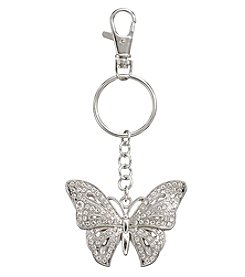 Relativity® Silvertone Butterfly Key Ring
