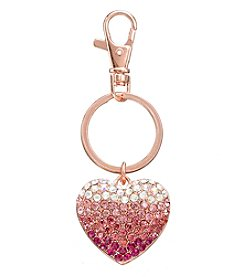 Relativity® Rose Goldtone Heart Key Ring