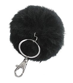 Relativity® Silvertone Pom Pom Key Ring