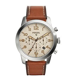 Fossil® Men's Silvertone Q54 Pilot Watch