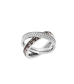 Michael Kors® Silvertone Grey Cubic Zirconia Clear Ring