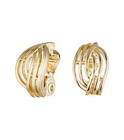 Anne Klein® Goldtone Clip Earrings