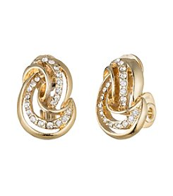Anne Klein&Reg; Goldtone Clip Knot Earrings