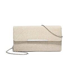 La Regale® Shimmer Linen Flap Clutch