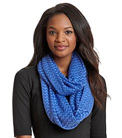 Cejon® Mini Chevron Burnout Infinity Scarf