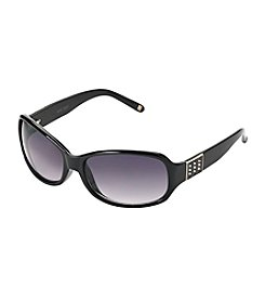 Nine West® Rectangle Wrap Sunglasses