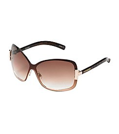 Steve Madden Large Tortoise Shield Sunglasses