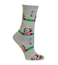 Hot Sox® Golf Carts Crew Socks