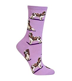 Hot Sox® Spaniel Dog Crew Socks