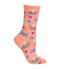 Hot Sox® Kittens With Yarn Crew Socks