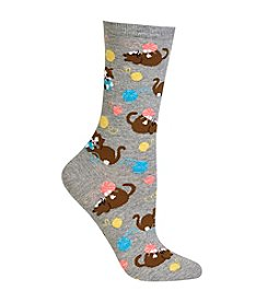 Hot Sox® Kittens With Yarn Crew Socks