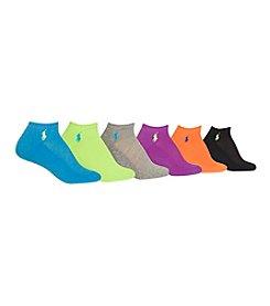 Polo Ralph Lauren® 6-Pack Cushion Sole Mesh Top Low Cut Socks