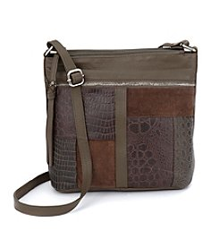 GAL Leather North/South Bucket Crossbody