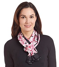 Basha Scrolled Hearts Stripe Scarf