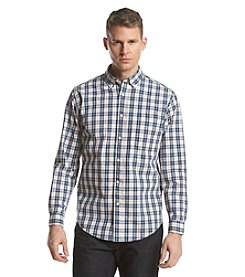John Bartlett Consensus Men's Long Sleeve Washed Woven Button Down Shirt