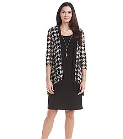 R&M Richards® Houndstooth Jacket Dress