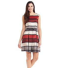 Julian Taylor Stripe Shantung Dress