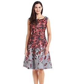 Julian Taylor Floral Shantung Dress
