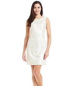 Ronni Nicole® Sleeveless Jacquard Sheath Dress
