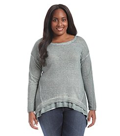 Democracy Plus Size Pigment Dye Sweater