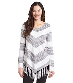 AGB® Stripe Fringe Top