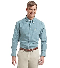 Jack Nicklaus Men's Long Sleeve Mini Gingham Button Down Shirt