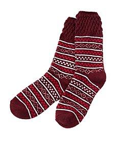 Cuddl Duds Fairisle Crew Socks