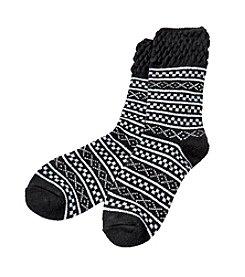 Cuddl Duds® Fairisle Crew Socks
