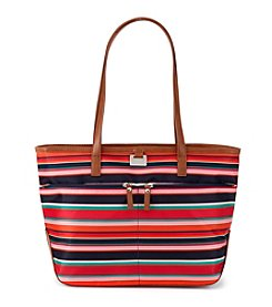 GAL Striped Nylon Tote