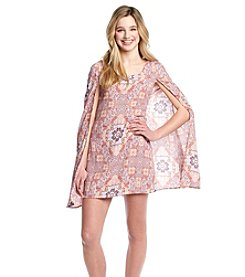 Taylor & Sage™ Printed Floral Cape Dress