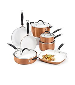 Bella 11-pc. Copper Ceramic Cookware Set