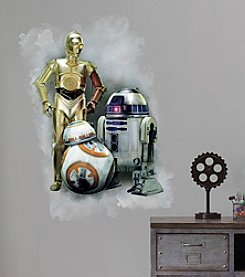 RoomMates Wall Decals Star Wars™ The Force Awakens Ep VII Robots Wall Graphic