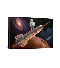 iCanvas Rocket Surfer by Eric Joyner Canvas Print