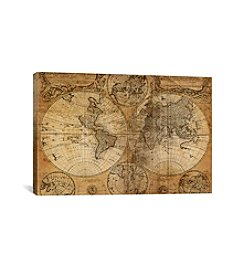 iCanvas Vintage Map by GraphINC Studio Canvas Print