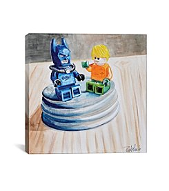 iCanvas Heroes Chillin by Jennifer Redstreake Canvas Print